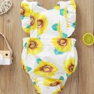Summer Sunflowers Printed Baby Rompers