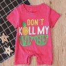 Letter Short Sleeve Summer Baby Rompers
