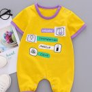 Cartoon Printed Contrast Color Baby Rompers