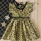 Fashion Sleeveless Leopard Girls Dresses
