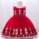 Bow Gauze Sleeveless Girls Flower Dresses