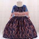 Beading Gauze Shawl Baby Girl Flower Dresses