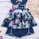 Doll Collar Printed Girls Two Pieces Sets