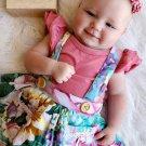Stylish Floral Petal Sleeves Baby Girls Set