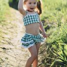 Chic Backless Binding Ruffles Plaid Baby Girl Outfit