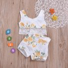 Lace Patchwork Floral Printed Girls 2 Piece Sets