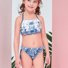 Halter Backless Printed Two Sets Girls Swimsuits