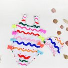 Lovely Printed Bow Decor Sleeveless Baby Swimsuit