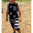 Star Striped Boys 2 Pieces Pants Outfits