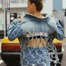 Backless Mesh Denim Jackets For Women