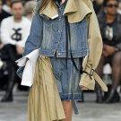 Contrast Color Patchwork Irregular Hem Boutique Denim Jacket
