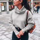 Casual Solid Long Sleeve Turtleneck Sweater