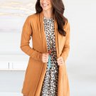 Daily Style Solid Color Knit Cardigan For Women