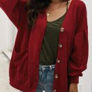 Solid Botton Up Long Cardigan Sweater