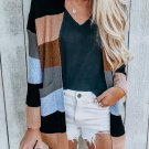 Contrast Color Striped Long Sleeve Cardigan