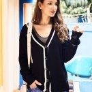 V Neck Knitting Long Sleeve Cardigan Sweater