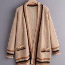 Striped Patchwork Knit Cardigan