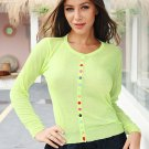 Green Buttom Up Cardigan Sweater