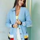 Patchwork Cardigan Sweaters For Women