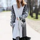 Contrast Color Tassel Hem Knit Cardigns For Women
