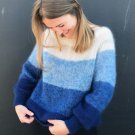 Chic Contrast Color Knit Crew Neck Sweater