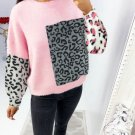 Individual Leopard Patchwork Sweater