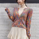 Colorful Single-Breasted Knit Ladies Cardigans