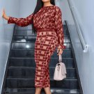 Daily Style Stitching Color 2 Piece Outfits For Women