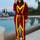 Casual Patchwork Zipper Legs Long Sports Clothing
