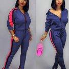 Leisure Contrast Color Zip Up Ladies Sportswear