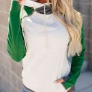 Daily Style Stitching Color Fitted Hoodies For Women