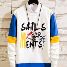 Hip-Hop Contrast Color Letter Mens Sweatshirts