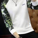 Printed Patchwork Long Sleeve Mens Sweatshirts