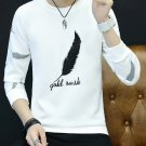 Stylish Feather Embroidery Male Sweatshirt