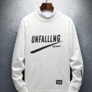 Creative Letter Long Sleeve Patchwork Men Sweatshirt