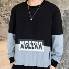 Casual Color Block Letter Design Men Sweatshirts