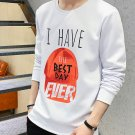 Round Collar Letter Printing Sweatshirt For Men