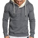 Casual Long Sleeve Solid Men Hoodie