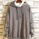 Casual Contrast Color Hooded Mens Sweatshirts