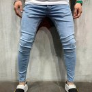 Stylish Solid Color Skinny Jeans For Men