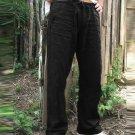 Solid Color Pockets Drawstring Mens Pants