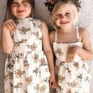 Lovely Sleeveless Floral Dress Sleepsuit Girls Clothes