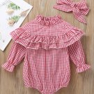 Stringy Selvedge Plaid Baby Rompers