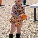 Sunflower Pumpkin Sleeveless Baby Rompers
