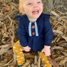 Lace Patchwork Fly Wings Baby Rompers For Winter