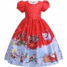 Christmas Santa Claus Pattern Flower Girl Gown