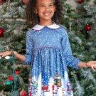 Christmas Snowman Long Dresses For Girls