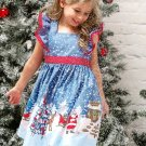 Christmas Pattern Bowknot Girls Dresses