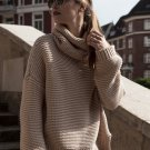 Pure Color Loose Turtleneck Sweater