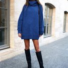 Pure Color Loose Turtleneck Sweater For Women